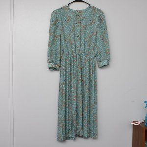 Lady Carol Petites Vintage floral bow print dress